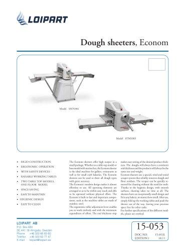 Marine Dough Sheeter Model no. SSO5304