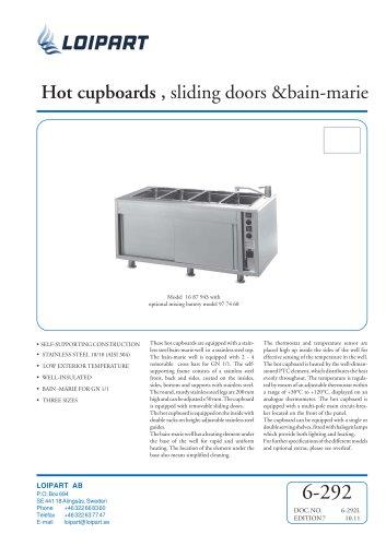 Marine Hot Cupboard/Bain Marie