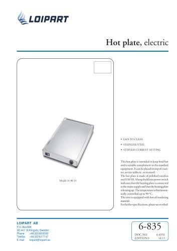 Marine S/S Hotplate Model no. 168013