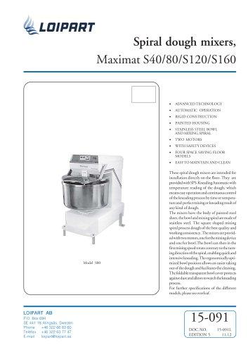 Maximat S40/80/S120/S160