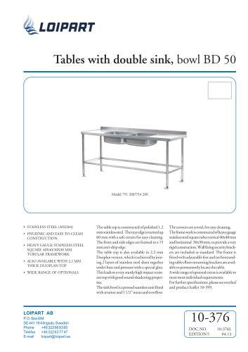 S/S Double Sink Unit BD-50