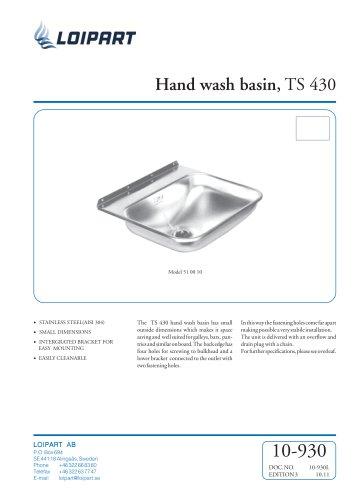 S/S Hand Wash Basin