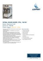 Spiral Dough Mixer 9S0750