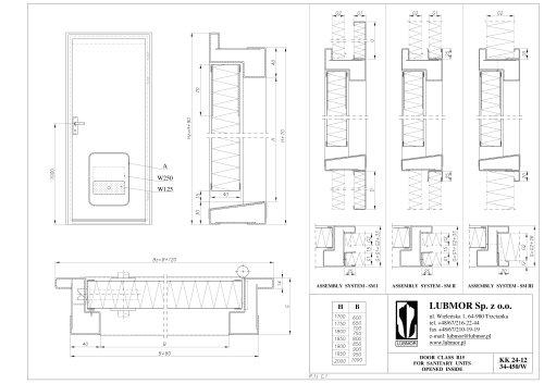 Door class B-15 for sanitary unit