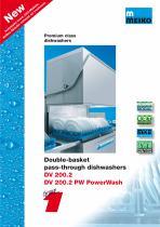 Catalogue Hood-type glass and-dishwashing machines Premium-line DV 200.2