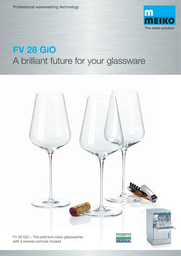 Catalogue Undercounter glass and dishwashing machines Premium-line FV 28 Gio