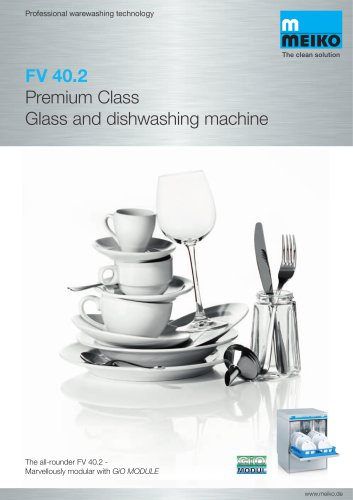 Catalogue Undercounter glass and dishwashing machines Premium-line FV 40.2