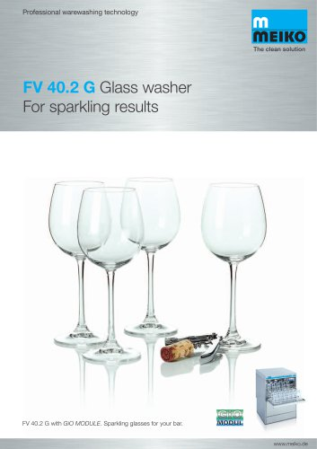 Catalogue Undercounter glass and dishwashing machines Premium-line FV 40.2 G