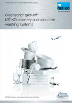Catalogue Warewashing dishwashing machines M-iQ Inflight