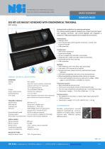 Backlit keyboard with ergonomical trackball