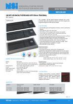 Backlit keyboard with laser trackball