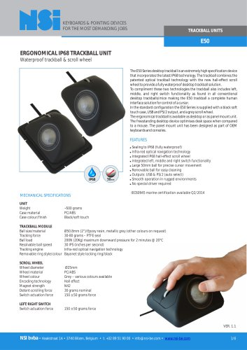 E50 ergonomical trackball