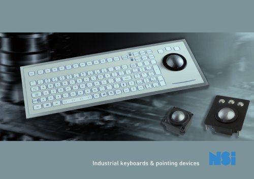 Industrial keyboards & pointing devices nsi