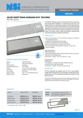 Short travel keyboard with touchpad