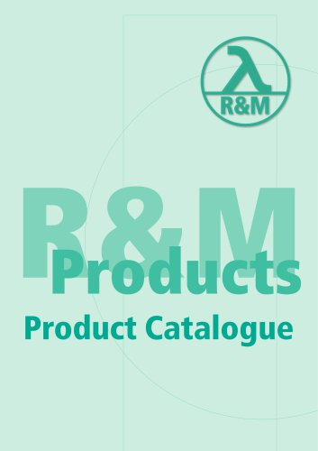 R&M Product Catalogue Complete