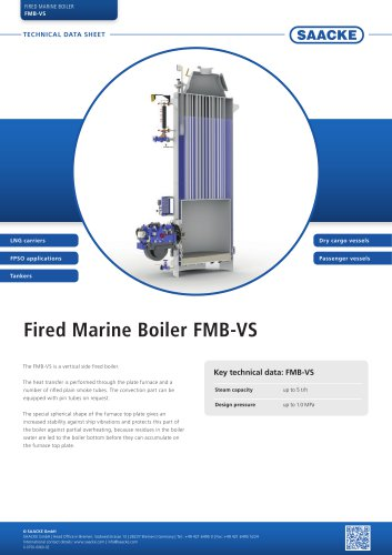 Fired Marine Boiler FMB-VS