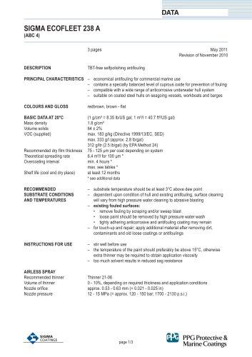 SIGMA ECOFLEET 238 A