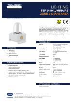Datasheet TEF 2440 Luminaire PLC