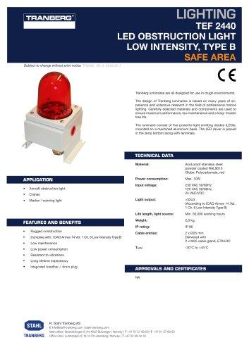 TEF 2440 LED OBSTRUCTION LIGHT