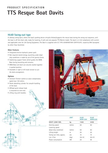 Davits:HL6D Swing-out type