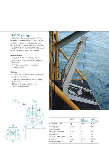 Davits:HL9D Tilt-out type