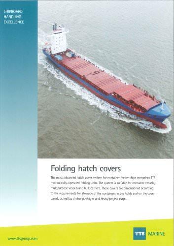 Folding hatch cover