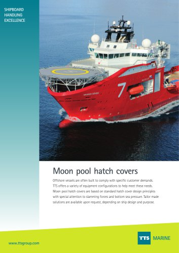 Moon pool hatch covers