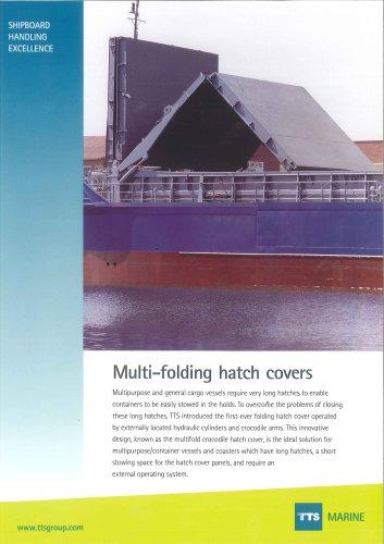 Multi-folding hatch covers