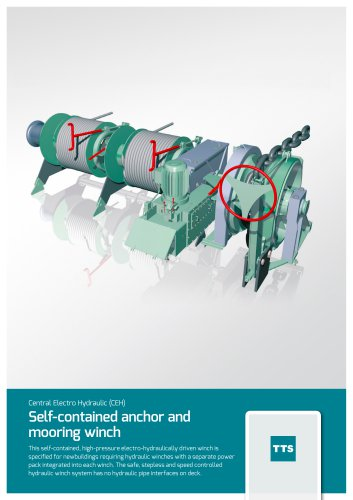 Self-contained anchor and mooring winch
