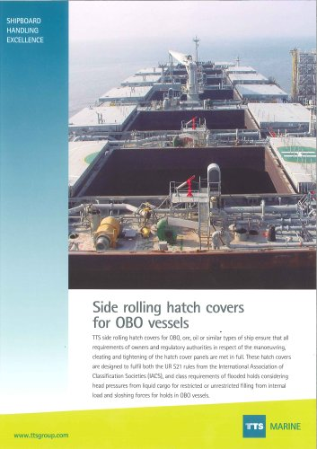 Side rolling hatch cover for OBO vessels