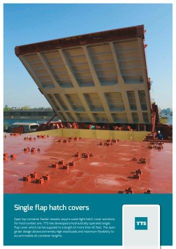 Single flap hatch covers