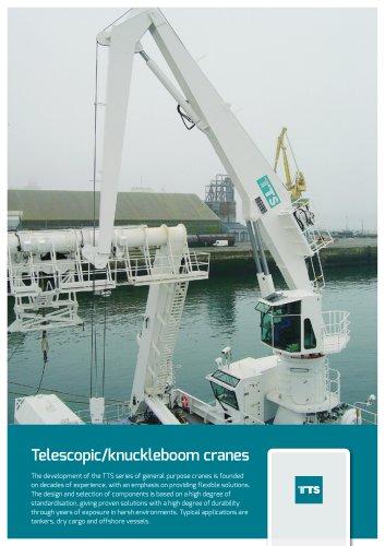 Telescopic/knuckleboom cranes