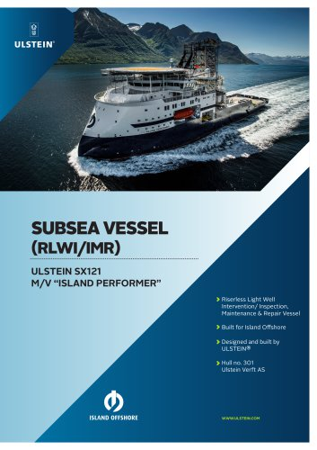 "ULSTEIN SX121 M/V ""ISLAND PERFORMER"""