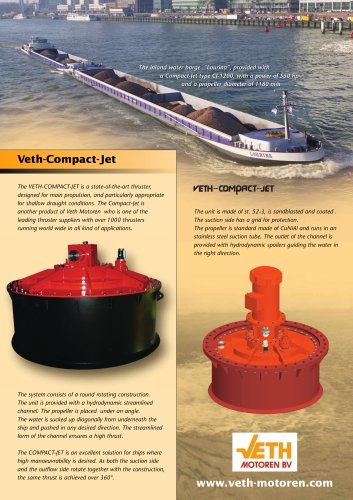 propulsion thruster for ships (flush mounted)