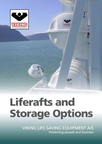 Liferafts and storage options