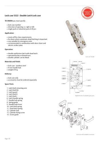 Lock case 5322-8