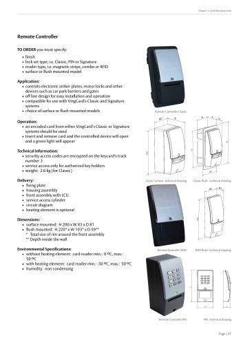 Remote Controller - VingCard Marine - PDF Catalogs