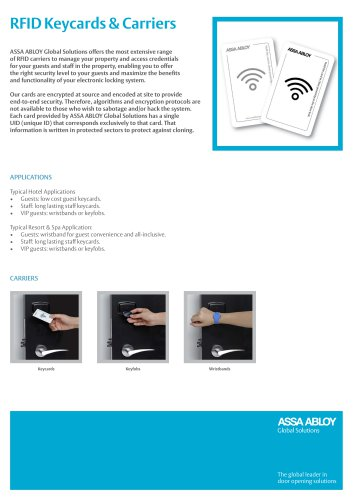 RFID Keycards & Carriers