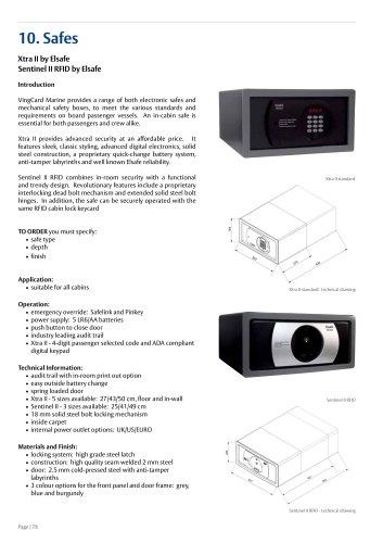 Xtra II - VingCard Marine - PDF Catalogs | Documentation