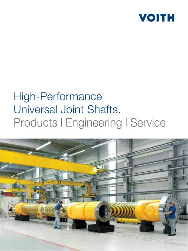 High-performance Universal Joint Shafts / Cardan Shafts. Products   Engineering   Service