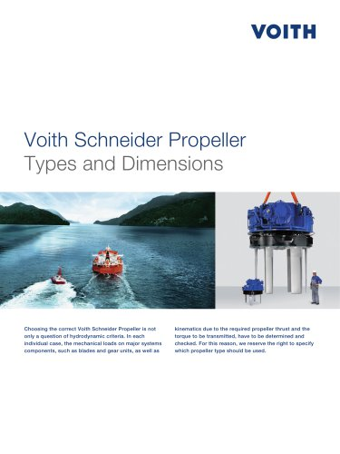 Voith Schneider Propeller Types and Dimensions