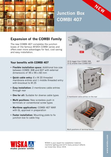 COMBI Junction Boxes with a special focus on COMBI 407