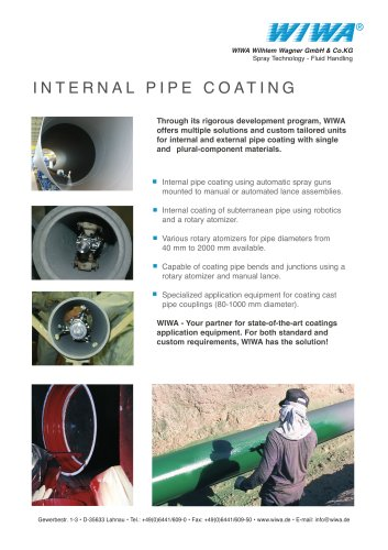 INTERNAL PIPE COATING
