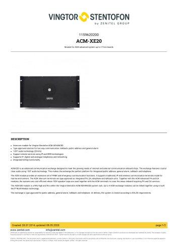 ACM-XE20