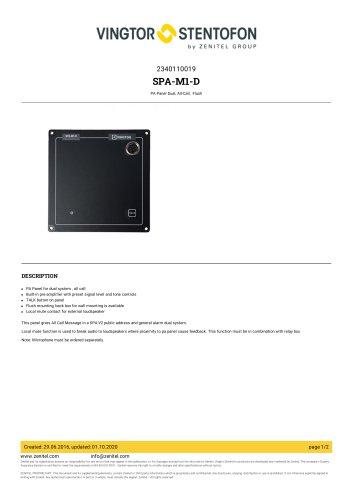 SPA-M1-D