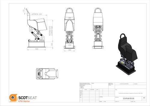 Jockey Seat Lower Backrest on Suspension Unit Fox Shock 150mm POD
