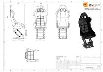 S2H Bucket Seat On Wide Suspension Unit