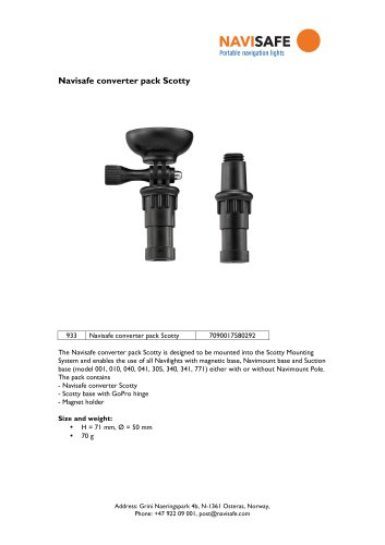 NAVISAFE Converter Pack Scotty; Includes Pole Converter