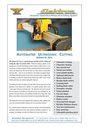 Elektron B1 Ultra ultrasonic automated cutter
