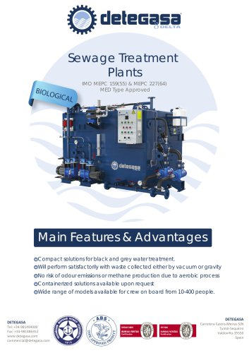 BIOLOGICAL SEWAGE TREATMENT PLANTS  BROCHURE